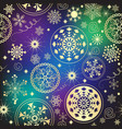 colorful gradient christmas seamless pattern with vector image