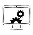 computer display with gears vector image