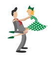 Couple dancing rocknroll cartoon vector image