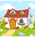Cute little house vector image vector image