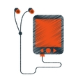 drawing mp3 device play music earphones vector image