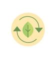 eco friendly green energy block icon vector image