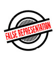 false representation rubber stamp vector image vector image