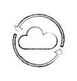 figure nice cloud weather with arrows around