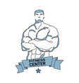 fitness center logo modern gym club icon of vector image