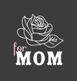 for mom rose black background image vector image vector image