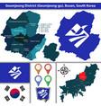 geumjeong district busan city south korea vector image vector image