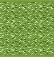 green brick wall seamless pattern vector image vector image