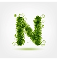 Green eco letter N for your design vector image vector image