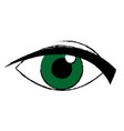 green eye look watch cartoon icon vector image vector image