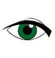 green eye look watch cartoon icon vector image vector image