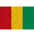 Guinea paper flag vector image
