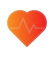 Heartbeat sign Orange applique vector image vector image