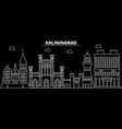 kaliningrad city silhouette skyline russia vector image vector image