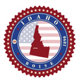 label sticker cards state idaho usa vector image