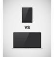 Laptop vs tablet vector image vector image