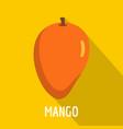 mango icon flat style vector image vector image