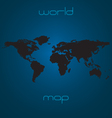 map world - black silhouette vector image