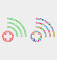 medical source mosaic icon triangle vector image vector image