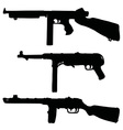 Old automatic guns vector image vector image