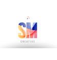 orange blue alphabet letter sm s m logo icon vector image vector image