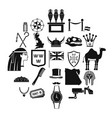 pharaoh icons set simple style vector image vector image