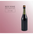 photorealistic bottle red sparkling wine on a vector image vector image