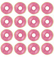 pink donut seamless pattern vector image