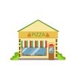 Pizza Cafe Commercial Building Facade Design vector image vector image