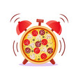 pizza time snack time vector image