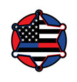 police and firefighter star badge vector image vector image