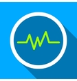 Pulse Monitoring Flat Long Shadow Square Icon vector image vector image