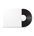 Realistic vinyl record in sleeve vector image vector image
