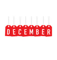 red december tag vector image vector image