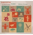 Retro agriculture and farming icons vector image vector image