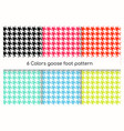 Seamless geometric pattern goose foot hound tooth