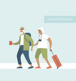 senior travelers ready for summer holidays vector image