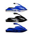 set jet ski scooter vector image vector image