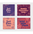 set of mother s day doodle cards hand vector image