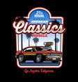 shirt design american muscle car vector image vector image