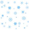 snowflake seamless pattern christmas vector image vector image