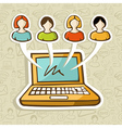 Social media people online interaction vector image vector image