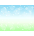 Soft grass and sky background vector image vector image