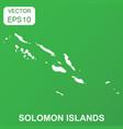solomon islands map icon business concept solomon vector image