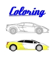 sport car - Coloring book vector image vector image
