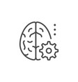 technical brain line outline icon vector image