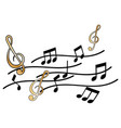 treble clef and music note vector image vector image