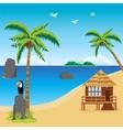 Tropical coast vector image
