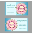 Two business cards with floral disign vector image vector image