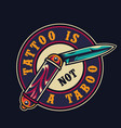 vintage tattoo salon colorful round emblem vector image vector image